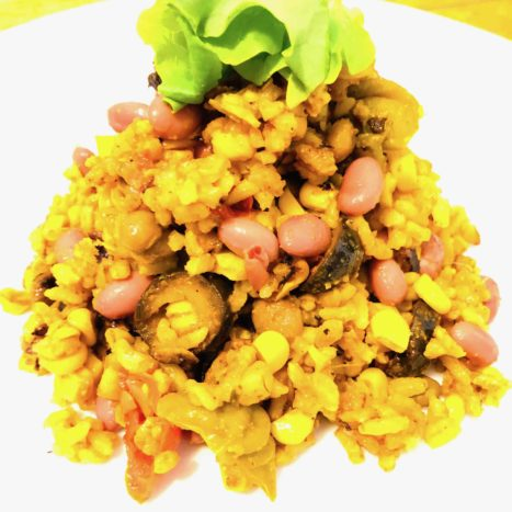 Delicious Mexican Rice With Corn And Peppers