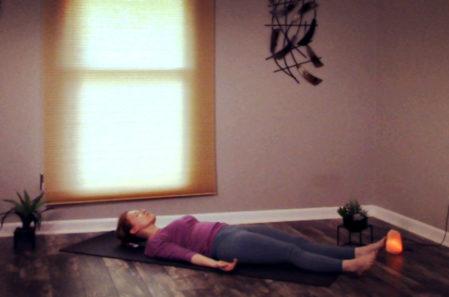 Gentle meditative savasana.