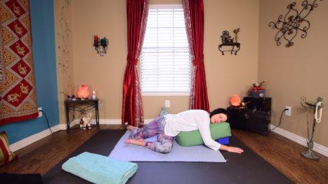 Restorative Yoga For Neck & Shoulder Pain & Tension Relief
