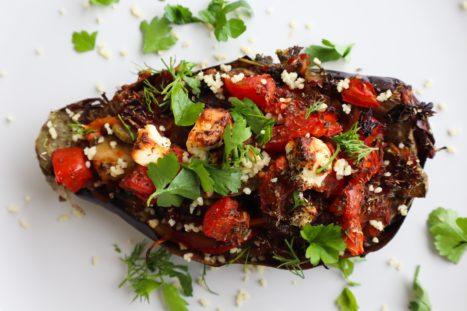 Vegetable Stuffed Eggplants, A Delicious Mediterranean Recipe