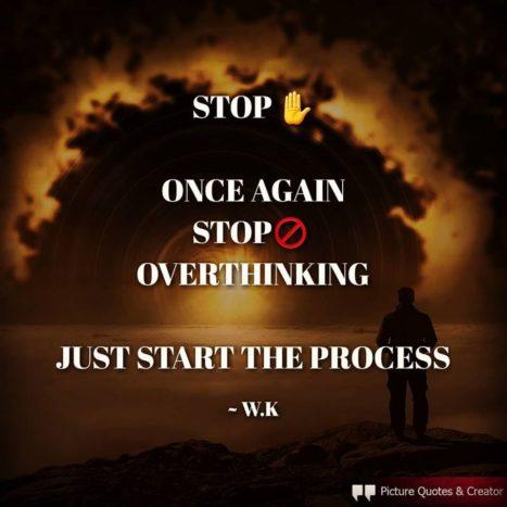 Overthinking Make Things Harder