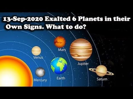 WOW! How Great — 6 Planets Will Be In Their Own Houses Today 13 September 2020